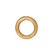 22K Gold Plated Brass Open Jump Rings 7.7mm 16 Gauge