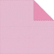 Sn@p! Colour Vibe Double-Sided Cardstock 30cm x 30cm -Pink Chevron/Mini Dot 25 per pack