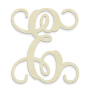 "UNFINISHEDWOODCO Single Vine Monogram Unfinished Letter, 50cm , Letter ""E"""