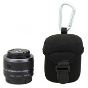 JJC JN-M Lens Case Bag Pouch for Olympus M.Zuiko Digital 14-42mm 1:3.5-5.6 II for for for for for for for for for for Samsung 20-50mm F3.5-5.6 II & Sony SELP 1650 Nikon 1 Nikkor VR 10-30mm f/3.5-5.6 Fujifilm 18mm F2 Lens