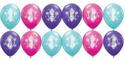 Disney Frozen 12 Latex Balloons (Pack of 2), 6 Count Toy, Kids, Play, Children