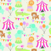 The Gift Wrap Company 12-Rolls Heavy Weight Wrapping Paper, Circus Pals