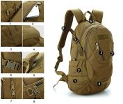 LEMONBEST® 20L WARGAME Outdoor Backpack Travelling Exploration Backpack Daypack Brown
