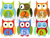 Monthly Stickers Monthly Baby Boy Owl Stickers Waterproof Baby Shower Gift Owl Monthy Stickers
