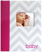 Pearhead Chevron Babybook, Pink