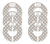 Grey Polka Dots #21 Baby Closet Dividers Boy or Girl Clothes Organisers Set of 6