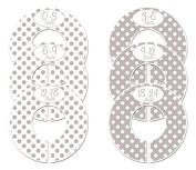 #C149 Grey Girl Boy Baby Closet Dividers Clothes Organisers Set of 6 Polka Dots