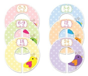 #82 Birds Girl Baby Closet Dividers Clothes Organisers Set of 6