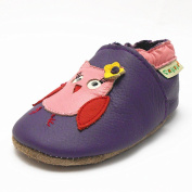 Sayoyo Baby Infant Toddler Cute Purple Owl Soft Sole Leather Shoes 6-12months Purple