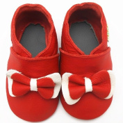 Sayoyo Baby Infant Toddler Red Bow Soft Sole Leather Shoes 24-36months Red