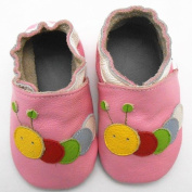 Sayoyo Unisex Infants Caterpillars Soft Anti-skid Sole Leather Baby Shoes 18-24months Pink