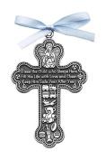 Cathedral Art CM6 Baby Boy Cross Crib Medal, 7.6cm High
