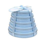 Child to Cherish Handprint Tower of Time Oval, Blue