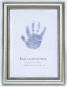 The Grandparent Gift Frame Wall Decor, Godmother Handprint