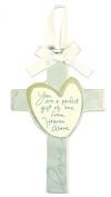 C.R. Gibson Precious Miracle Ceramic Keepsake Cross