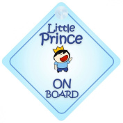 Little Prince On Board Car Sign New Baby / Child Gift / Present / Baby Shower Surprise
