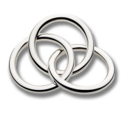 Cunill 180ml 3-Ring Baby Rattle, 5.1cm , Sterling Silver