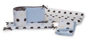 kidsline Large Dot Bumper, Blue and Brown
