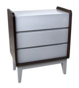 Zutano Tivoli 3 Drawer Dresser, Espresso/Cloud