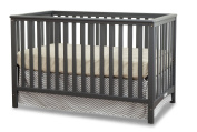 Stork Craft Hillcrest Fixed Side Convertible Crib, Grey