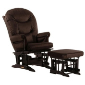 Sleigh Glider-Multiposition, Recline & Ottoman Combo Nursing/Chocolate/Microfiber