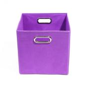 Modern Littles Colour Pop Folding Storage Bin, Solid Purple