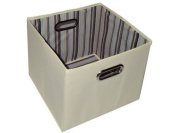 Alexi Ricci Khaki Tan 11Hx13Wx13D Folding Storage Bin Orginization with Style