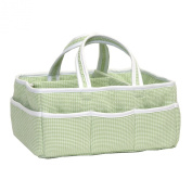 Trend Lab Gingham Seersucker Storage Caddy, Green