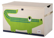 3 Sprouts Toy Chest, Crocodile, Green