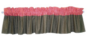 Trend Lab Cocoa Coral Window Valance, Coral Pink