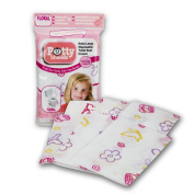 Toilet Seat Covers- Disposable XL Potty Seat Covers, Individually Wrapped by Potty Shields - Extra-Large, No Slip