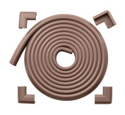 Roving Cove® EXTRA DENSE / EXTRA LONG Safe Edge™ and Corner Cushion - 15ft (4.6m) Value Pack - Coffee; Premium Childproofing Edge Corner Guard - Child Safety Home Safety Furniture and Table Edge Corner Protectors