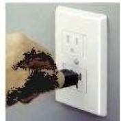Safe Plate for Electric Outlet White with Single Screw