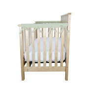 Trend Lab Fleece CribWrap Rail Covers for Crib Sides (Set of 2), Sage Green, Narrow
