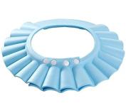Children Waterproof Bath cap Shower hat Adjustable Blue