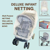 Comfy Baby Deluxe Net with Bows for Stroller, Bassinet or Playpen