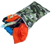 Itzy Ritzy Travel Happens Sealed Wet Bag, Camo, Medium