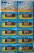 10 x Eunicell 4LR44 4G13 L1325 A544 476A 6v Alkaline batteries
