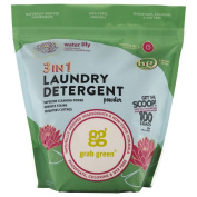 Grab Green 3-in-1 Laundry Detergent Powder, Water Lily, 1.8kg