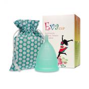 Menstrual Cup - EvaCup Blizzard Blue - (Large, Blizzard Blue.