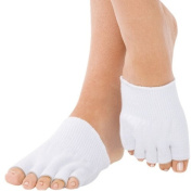 Gel-Lined Compression Toe Separating Socks Heel Pain Relief, 1 Pair