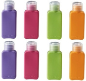 Ikea Travel Size Bottles 8 Pack, 4 colours, for cosmetic products