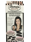 Bumpits Snaps Hair Volumizing Leave-in Inserts,Dark Brown/black Lifts Hair at Roots for Natural Volume