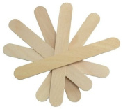 Cotton Orchid Large Wide Wood Wax Spatula Applicator 15cm x 1.9cm 100 pack