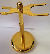 Deluxe Gold Razor and Brush Stand