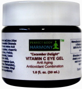"""Cucumber Delight"" ANTI ageing EYE GEL with VITAMIN C (5%) + Wrinkle Reduction & Prevention Antioxidant Combination Moisturiser Gel + 70% Organic Ingredients Including Organic Herbal Infusion & Botanical Hyaluronic Acid (No Rooster Combs - Vegan Approv .."