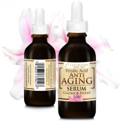 Best Pure Retinol Anti Wrinkle Facial Serum - Smoothing Anti Ageing Mouisturizer + Ferulic Acid + Virgin Coconut Oil - Hydrating, Age Defying Skincare for Women and Men. Dramatically Reduce Fine Lines and Wrinkles - Eye Cream and Serum. Use Lightweight ..