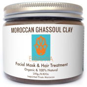 100% Natural Moroccan Facial Cleanser Mask? (Rhassoul) Ghassoul Clay ? Ready To Use Mixed With Rose Water, Organic Hair Treatment & Exfoliating Facial Mask (Anti-ageing)+ Free Pumic Stone Dead Skin Feet Remover (FREE Gift?). EBOOK!