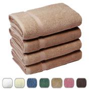 SALBAKOS Luxury Hotel & Spa Turkish Cotton 4-Piece Eco-Friendly Bath Towel Set 70cm x 140cm , Taupe
