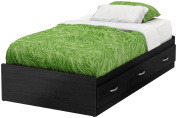 South Shore Lazer Collection Mates Bed (100cm ), Black Onyx, Twin